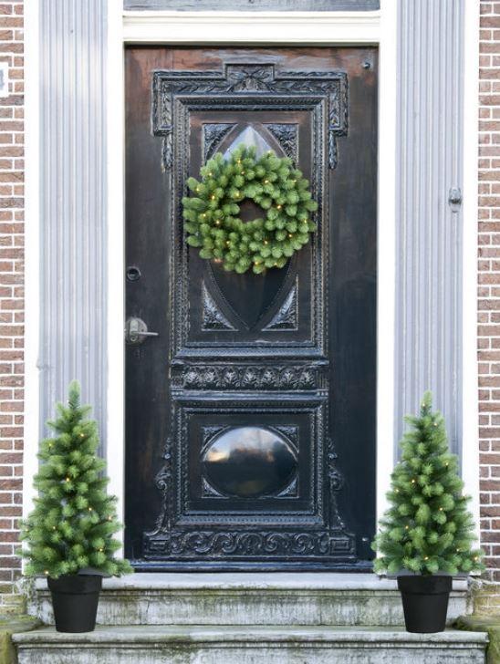 Deurset – Krans En Kerstboompjes