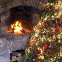 Warm Witte Kerstverlichting Sfeerfoto