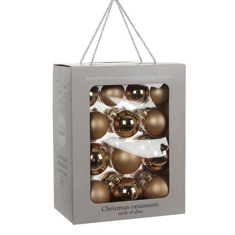 Kerstballen Champagne Glas (26 Stuks)