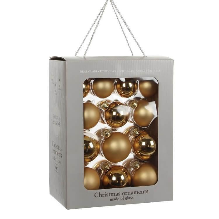 Kerstballen Goud Glas (26 Stuks)