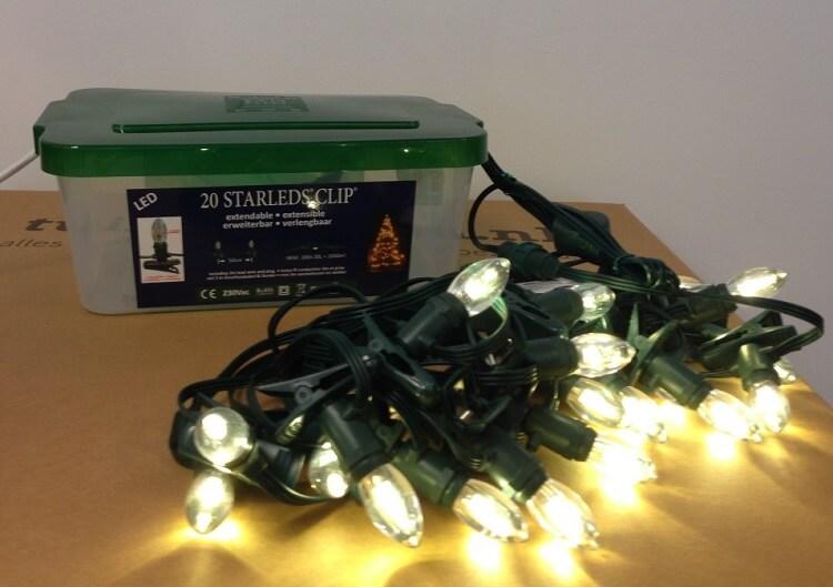 Kerstverlichting Kaars LED Met Keepdry Box Verlichting Aan
